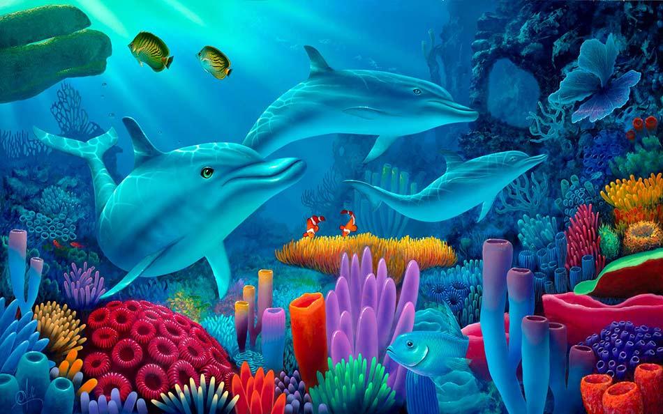 Dolphin Wallpaper For Walls : Dolphin Wallpaper