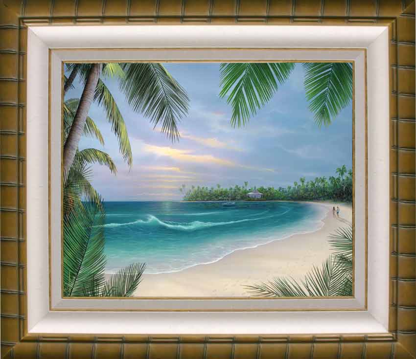 Beach House Rendezvous. A painting of a walk on the perfect beach ...
