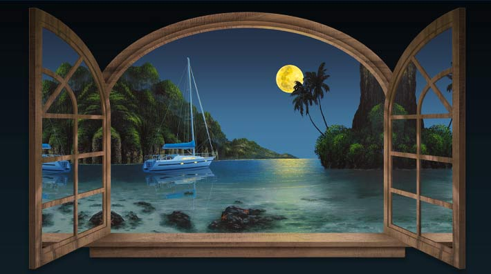 Full-Moon-Seascape-Painting