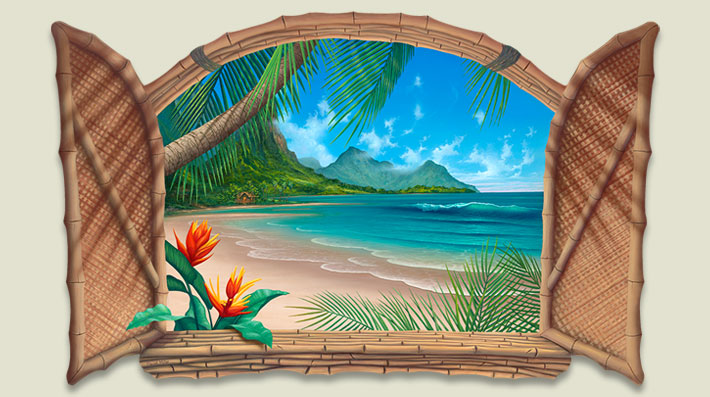 Hawaiian-Beach-Painting