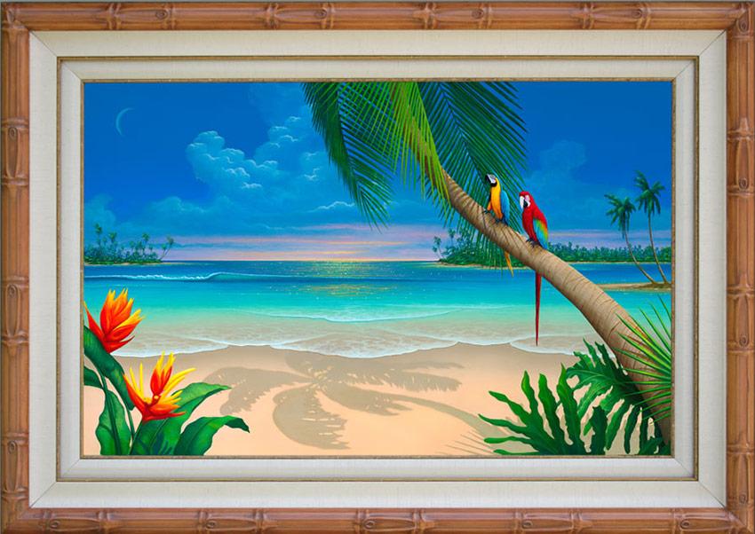 paradise beach painting