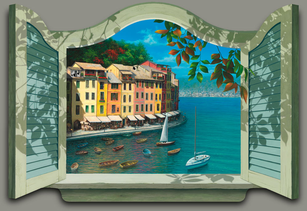 Colors-of-Portofino Painting