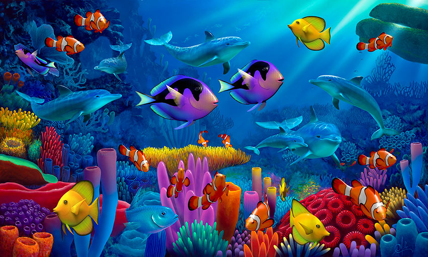 Image result for colourful fish in the sea