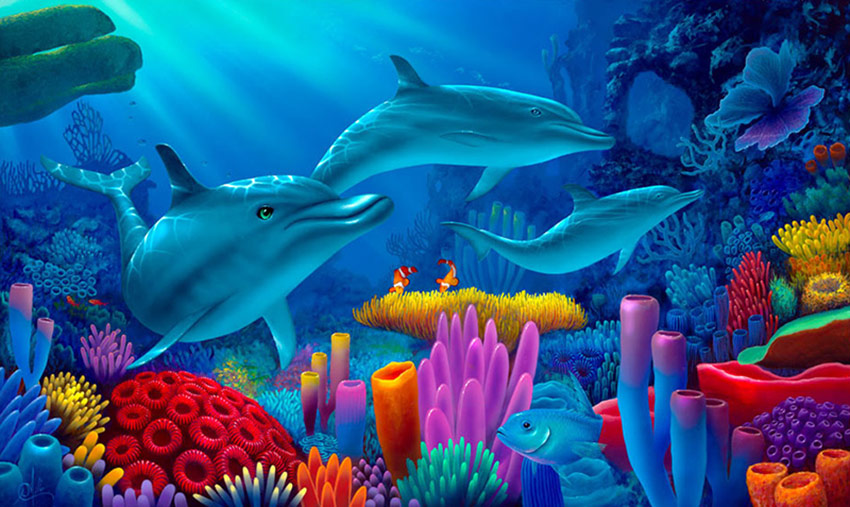 Dolphin Painting_Secrets of the Sea