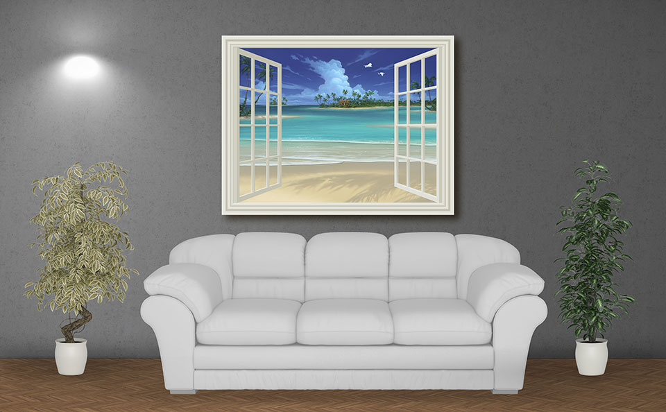 "Seascape Painting ""Summer Breeze"""