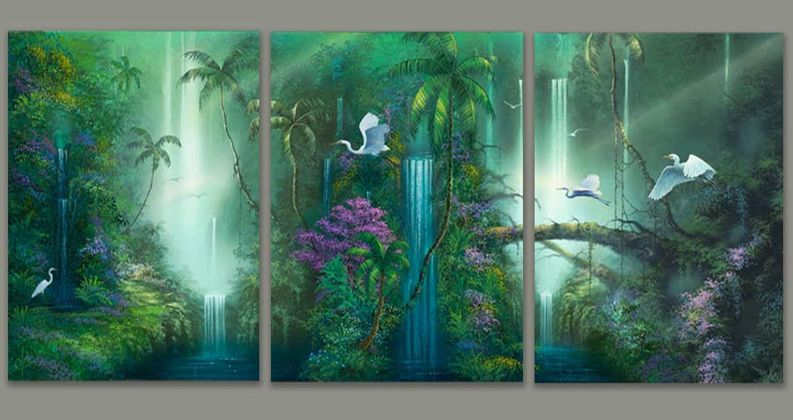 Fantasy Waterfall paintings