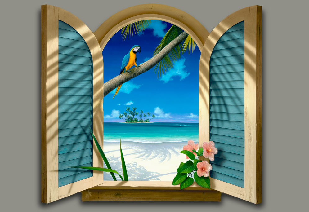 Window-to-Paradise Painting