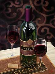 Wine Painting by artist David Miller