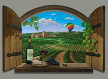 Wine Painting of Napa Valley