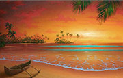 seascape painting island passion