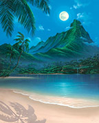 seascape painting moonlit dream