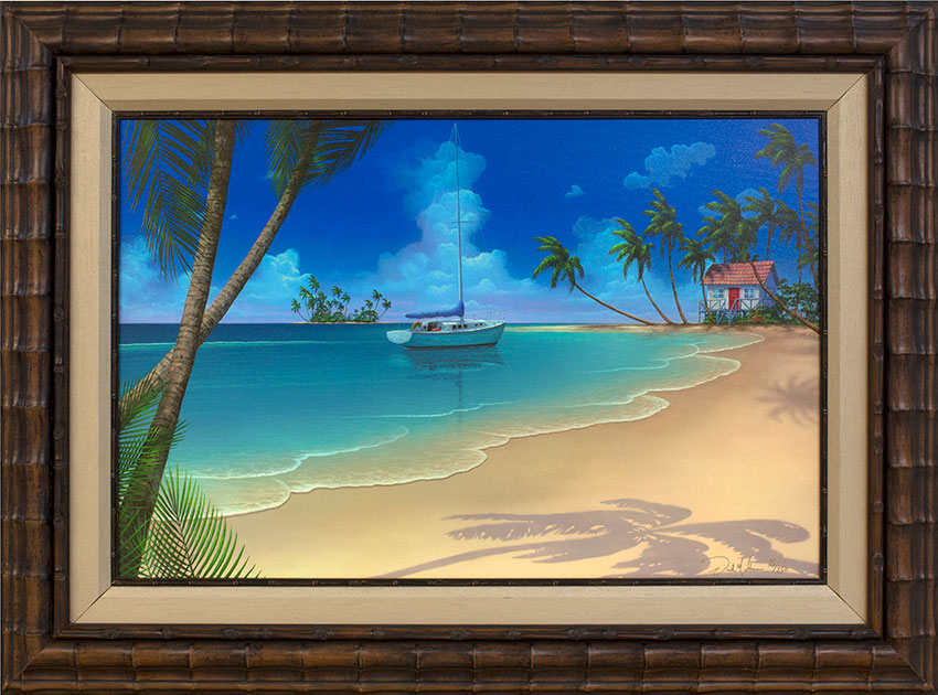 seascape-painting-Paradise-Beach_framed