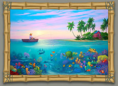 under-the-sea-painting-of-dolphins-and-turtles