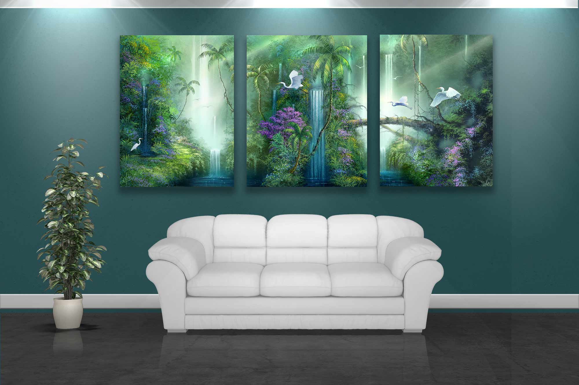 wall art tropical. Artist David Miller  Paintings and Artwork for your Walls