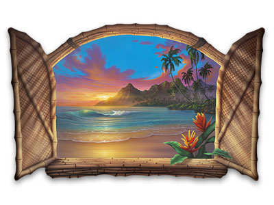 Wall Art Beyond-Paradise-seascape-painting